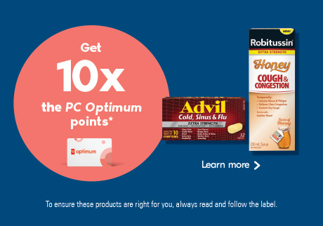 Get 10x the PC Optimum points* Learn more