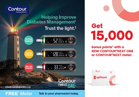 Get 15,000 bonus points* with a FREE* CONTOUR® NEXT ONE or CONTOUR® NEXT meter from Saturday July 11 to Friday August 7, 2020