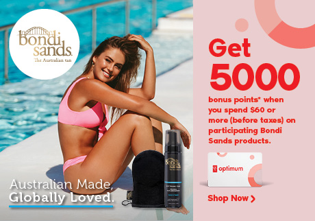 Get 5,000 bonus points when you spend $60 on any participating Bondi Sands products.