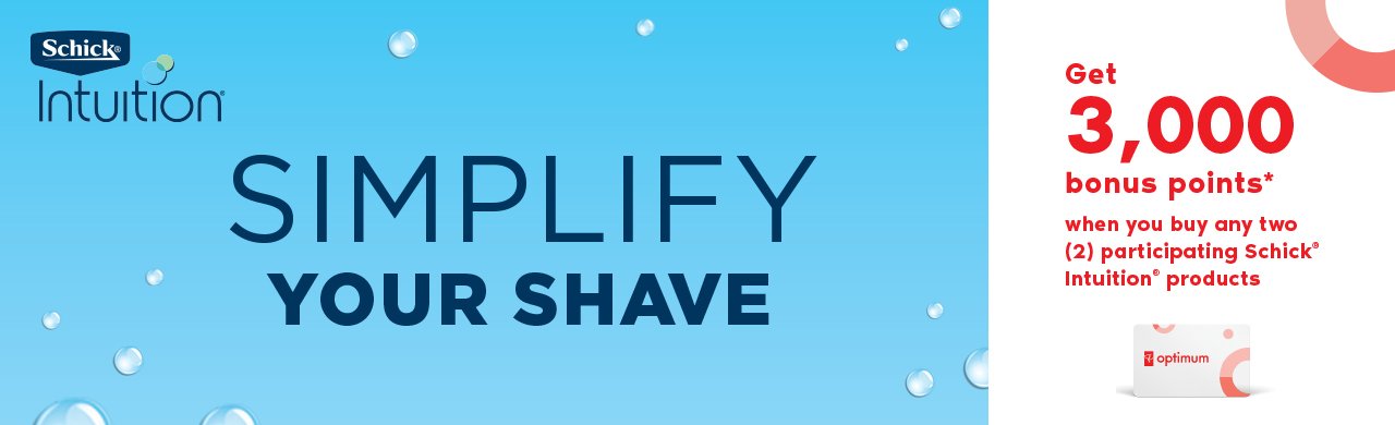 Schick intuition. SIMPLIFY YOUR SHAVE.
