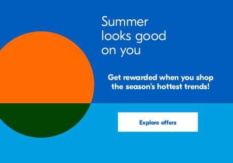 Summer looks good on you. Enjoy PC Optimum bonus points* on participating products. Explore offers.
