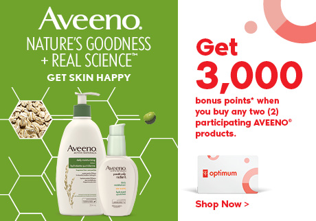 Aveeno®. Nature's Goodness + Real Science. Get Skin Happy.