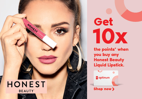 Get 10x the points* when you buy any Honest Beauty Liquid Lipstick.   Shop now