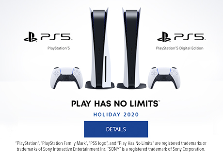 PlayStation®5 | Play Has No Limits™. Click here for details.