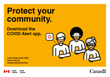 Download the COVID alert app.