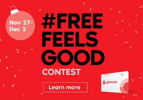 Nov 27 - Dec 2 #FREEFEELSGOOD CONTEST. Learn more