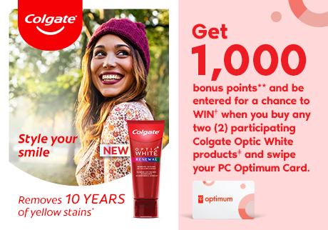 New Colgate Optic White*. Style your smile contest. You could win† 1 of 5 prizes of $7000 towards a style makeover.