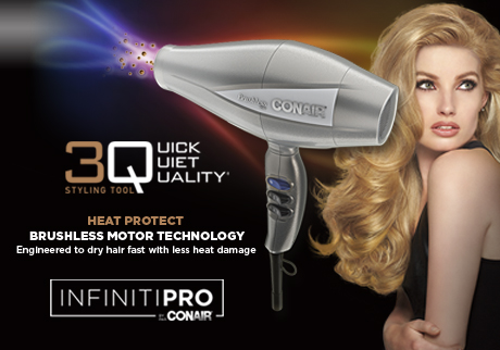 Engineered to dry hair fast with less heat damage
