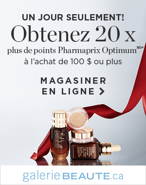 Obtenez 20 x plus de points Pharmaprix Optimum à l'achat de 100 $ ou plus
