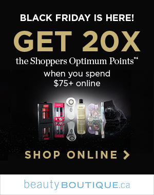 Get 20x the Shoppers Optimum Points* when you spend $75+ online