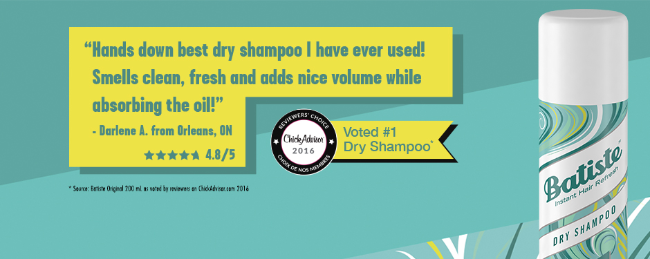 Voted #1 Dry Shampoo*