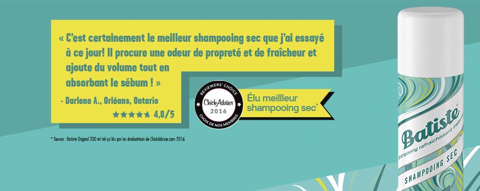 Élu shampooing sec le plus populaire*