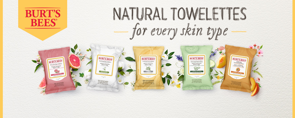 Burt's Bees Natural Towelettes for every skin type