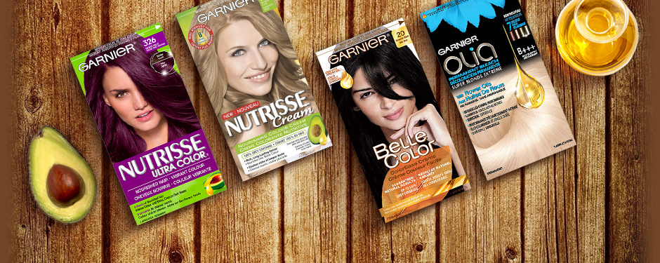 Coloration Garnier : Nutrisse Cream, Ultra Color, Olia and Belle Color