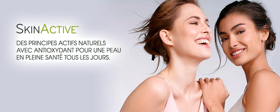 Principes actifs naturels avec antioxydants pour une peau en pleine santé, tous les jours.