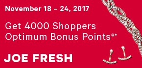 Get 4000 Shoppers Optimum Bonus Points