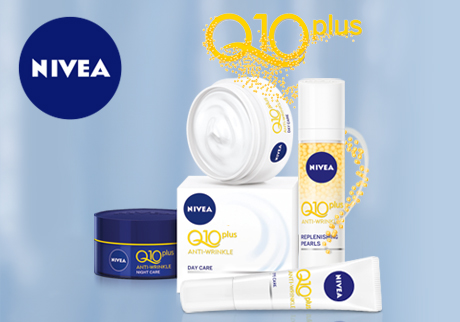 Try NIVEA Q10PLUS range to reduce visible signs of aging