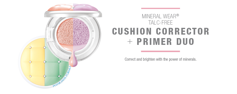 Mineral Wear Talc-Free Cushion Corrector + Primer Duo