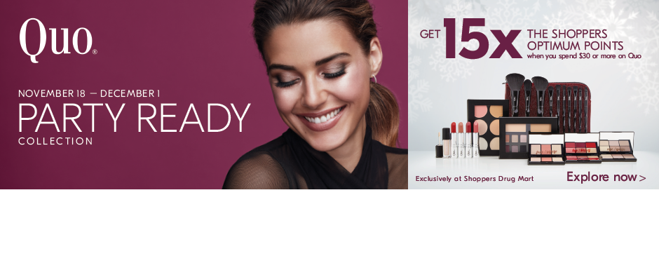 Get 15x the Shoppers Optimum Points