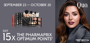 Get 15x the Pharmaprix Optimum Points