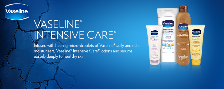 Heal dry skin with Vaseline Intensive Care