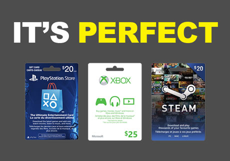 Find gift cards for gamers