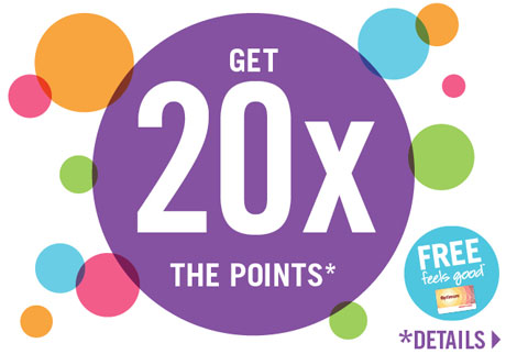 Get 20x the points!