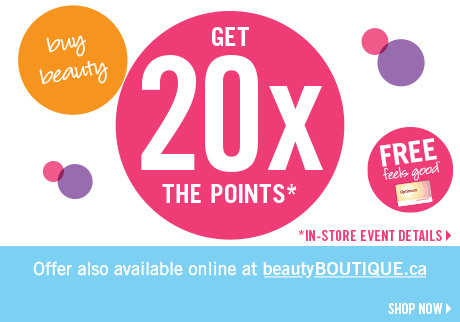 Get 20x the points on cosmetics!