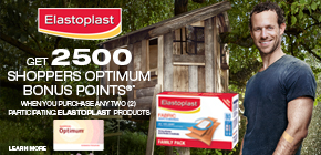 Get 2500 Shoppers Optimum Bonus Points®*