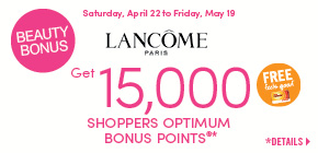 Get 15,000 Shoppers Optimum Bonus Points