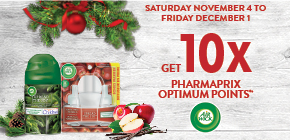 Get 10x the PHARMAPRIX OPTIMUM POINTS