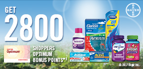 Get 2800 Shoppers Optimum Bonus Points®‡