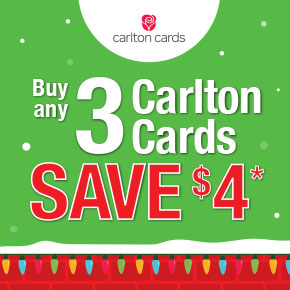 Buy 3 Carlton Cards, Save $4*