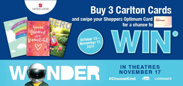 Buy 3 Carlton Cards and swipe your Optimum Card for a chance to WIN.