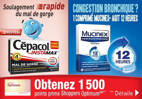 Obtenez 1500 points prime Shoppers OptimumMD**
