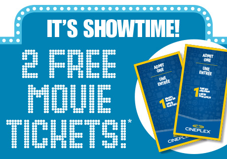 Get 2 FREE movie tickets!