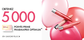 Obtenez 5 000 points prime Pharmaprix Optimum