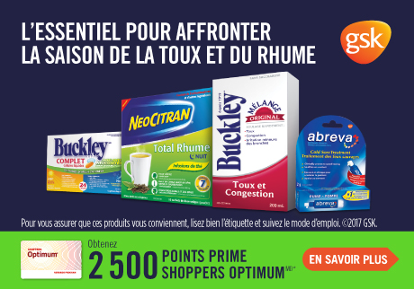 Obtenez 2 500 points prime Shoppers Optimum*