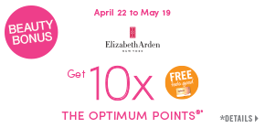 Get 10x the Shoppers Optimum Bonus Points