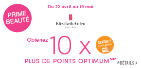 Obtenez 10 x plus de points prime Shoppers Optimum