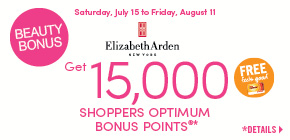 Get 15,000 Shoppers Optimum Bonus Points®*