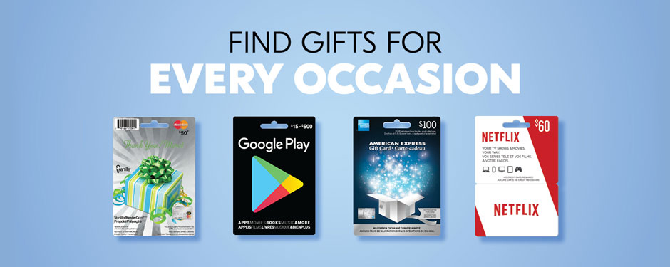 Find gifts for every occasion
