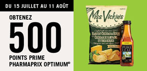 Obtenez 500 points prime Pharmaprix Optimum