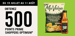 Obtenez 500 points prime Shoppers Optimum