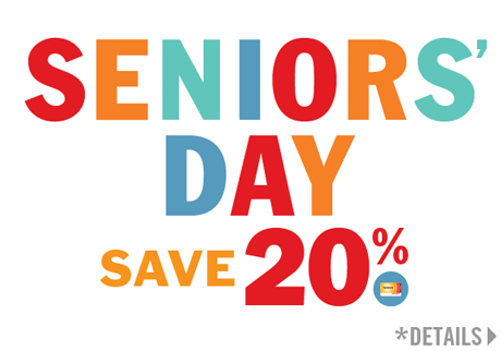 Thursday, December 8 is an extra Seniors Day!