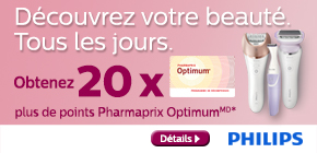 Obtenez 20 x plus de points Pharmaprix Optimum