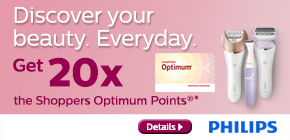 Get 20x the Shoppers Optimum Points