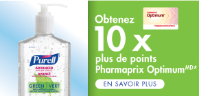 Obtenez 10 x plus de points Pharmaprix Optimum