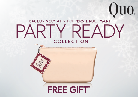 Explore Quo's Holiday Collection and receive a gold cosmetics bag as your free gift when you spend $50 or more on Quo.