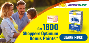 Get 1800 Shoppers Optimum Bonus Points